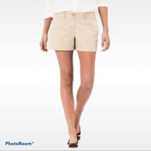 Loft 14 Rivera shorts 3.5 inseam flat front khaki